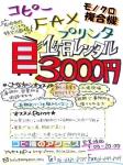 一ヶ月レンタル3000円
