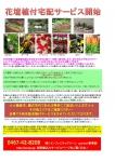 花壇植付宅配サービス開始